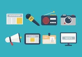 Free Press Media Vector Icon Collection