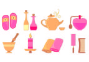 Set Of Beauty Clinic Icons