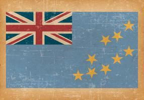 Grunge Flagga av Tuvalu