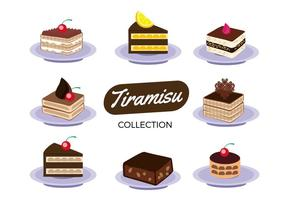 Gratis Tiramisu Cake Collection Vector