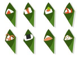 Sushi Temaki libre con diferentes topping Vector