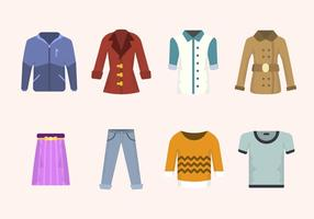 Plana klädervektorer