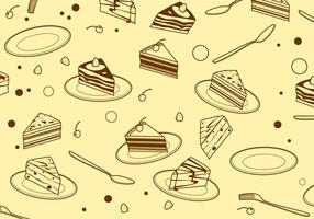 Driehoek Tiramisu Patroon Gratis Vector