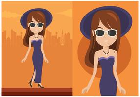 Glamorös Kvinna Vektor