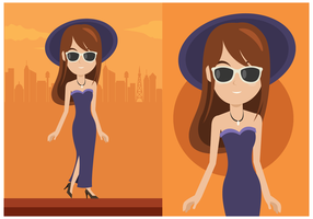 Glamorous Woman Vector