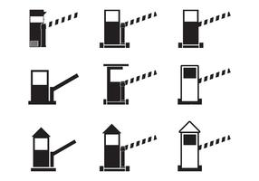 Toll booth icon set