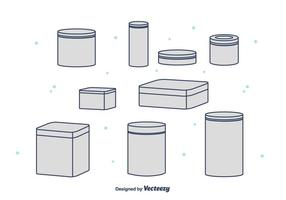 Tin Box Vector Collection