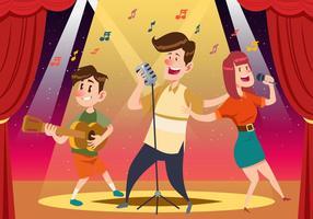 Vrolijke mensen zingen