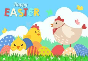Leuk Happy Easter Background Vector