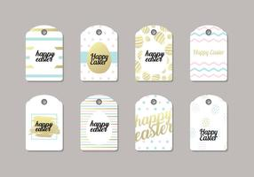 Trendy Pasen Gift Tag Vector
