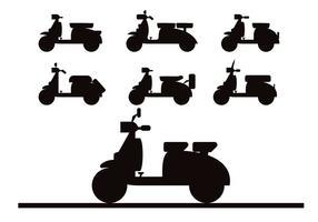 Lambretta silhouette vector set