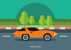Vector Illustration Of Classic Muscle Car
