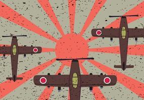 Vecteur japonais gratuit de l'avion de chasse