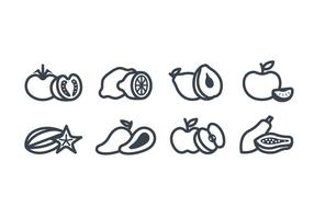 Fruits vector icon