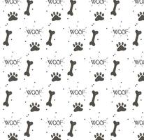 Dog Footprint Pattern Vector