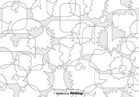 Vector Speech Bubbles Seamless Pattern