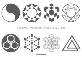 Collection abstraite de formes vectorielles vecteur