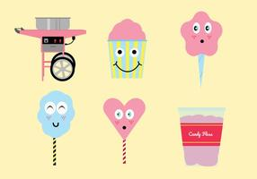 Candy floss vector pack