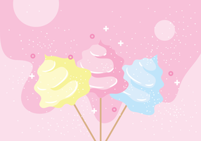 Illustrazione vettoriale di Candy Floss