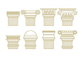 Gratis Roman Pillars Vector Pack