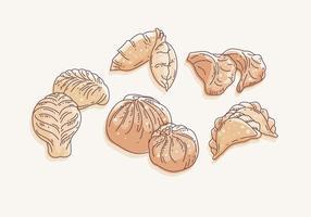 Vector bolas de masa hervida
