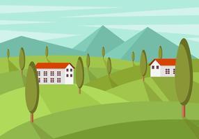 Vectores gratis de paisaje de la Toscana