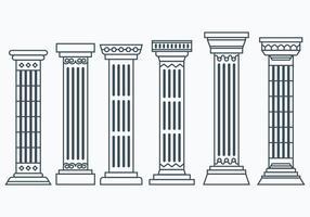 Ensemble de colonnes corinthiennes