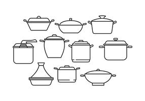 Gratis Pan Line Collection Vector