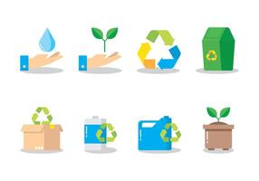 Recycling Flat Icon vector