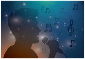Gratis Mannelijke Singing Vector