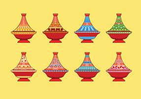 Ceramic tajine flat icon vector