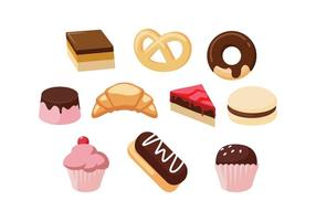 Free Sweet Food Set Vector