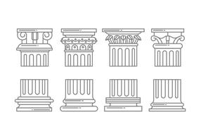 Icônes de colonne romaine