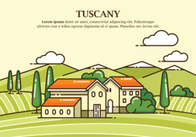 Illustration Vecteur Toscane