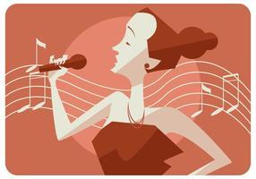 Singer Diva Vector