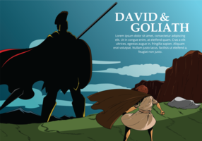 David und Goliath Vektor-Illustration