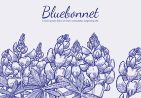 Free Hand Drawn Bluebonnet Flower Vectors