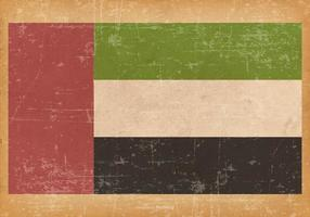 Old Grunge Flag of United Arab Emirates  vector