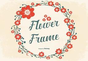 Grunge Blumenrahmen Hintergrund