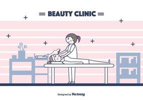 Fundo do vetor da clínica de beleza