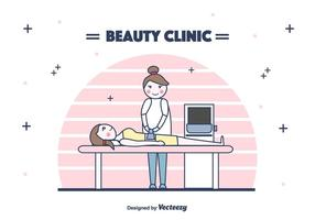 Beauty Clinic Behandeling Vector