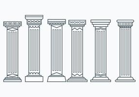 Set of Corinthian Columns vector