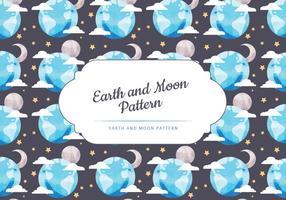 Vector Maan en Aarde Naadloos Patroon