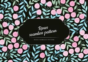 Vector Roses Seamless Pattern