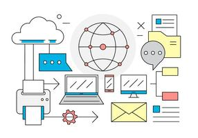 Free Linear Business and Office Vector Elements