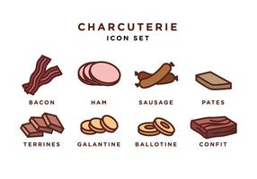 Charcuterie Icon Set Vector Libre
