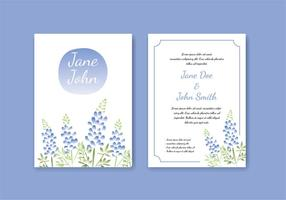 Blue Bonnet Water Color Effect Template Gratis Vector