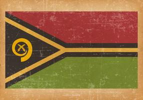 Old Grunge Flag of Vanuatu vector