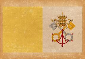 Old Grunge Flag of Vatican City