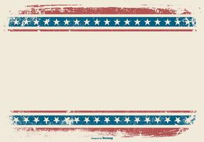 Patriotic Grunge Style Background vector